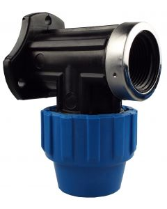 """MDPE WALL FLANGE 25MM -3/4"""" BSPF INLET"""